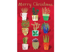 Nine Plant Pots Christmas Card