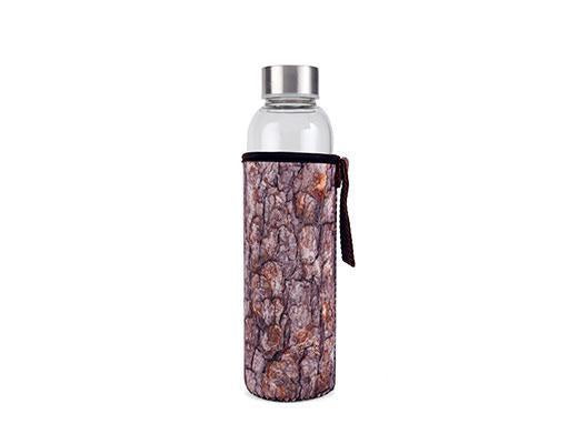Log Glass Bottle With Sleeve