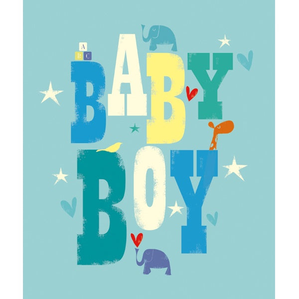Baby Boy Typography Card