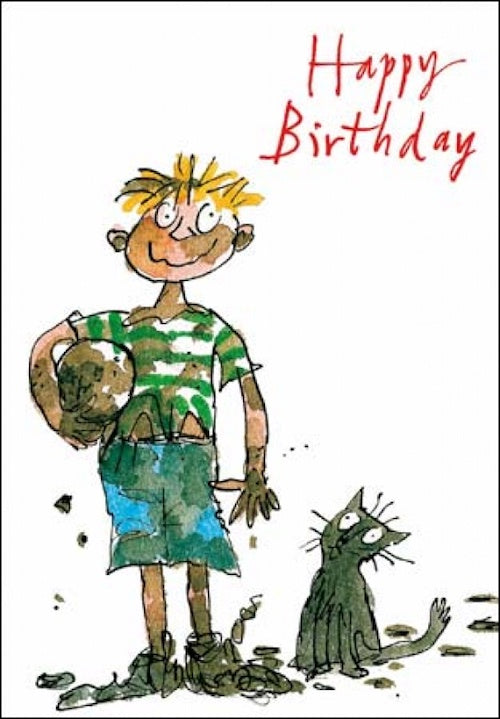 Mud Quentin Blake Birthday Card