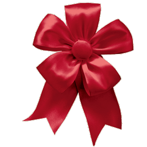 Ribbon Bow - Red