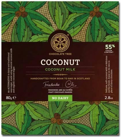 Vegan Bean to Bar Coconut Milk Chocolate 55%