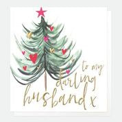 Merry Christmas to my Darling Husband Tree Card