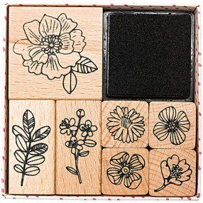 Hygge Flowers Stamp and Ink Set