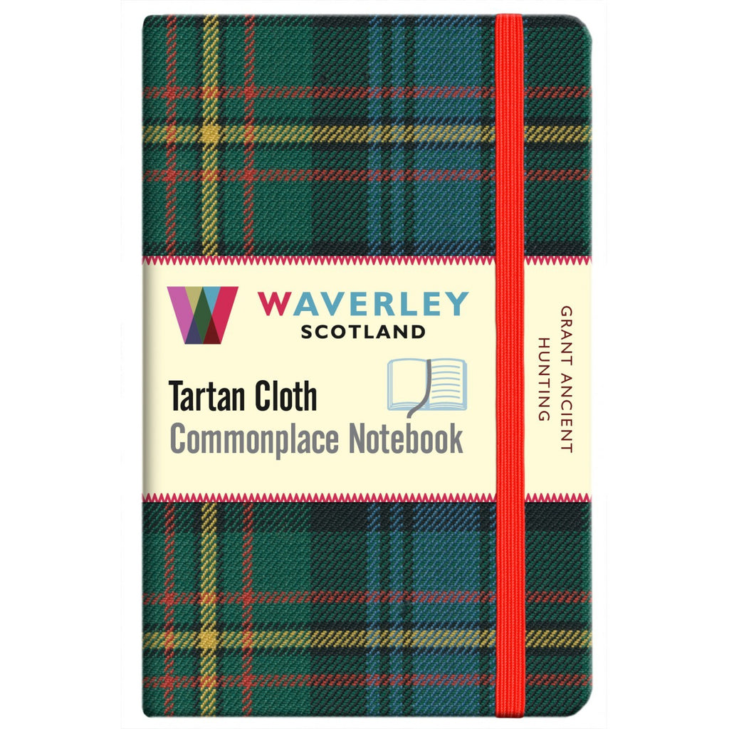Tartan Cloth Notebook - Grant Ancient Hunting