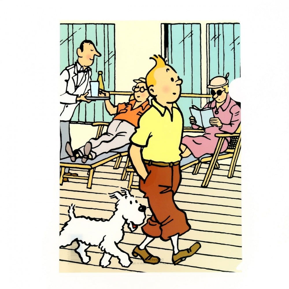 Tintin Boardwalk A4 Plastic Sleeve