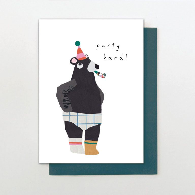Party Hard! Birthday Card