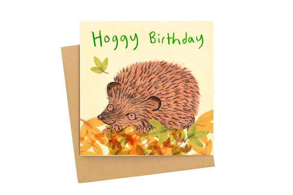 Hoggy Birthday Card