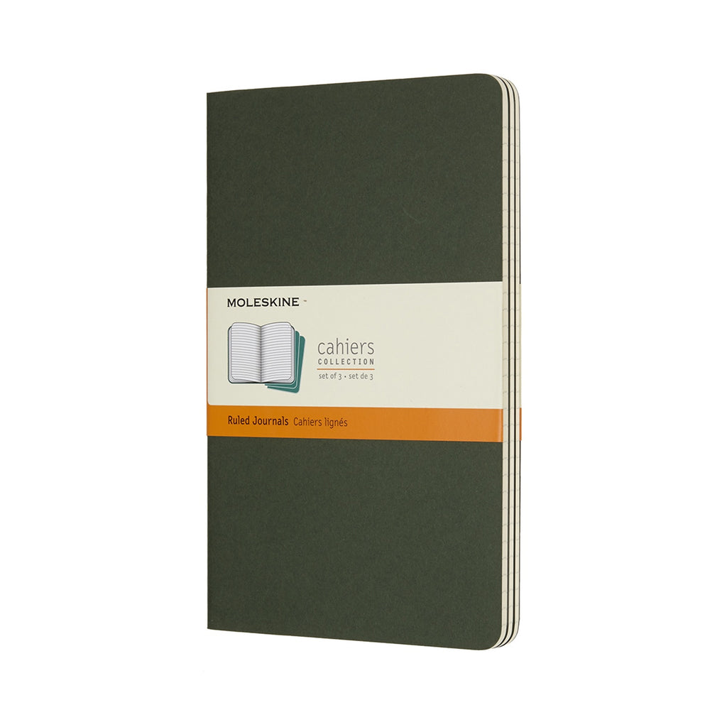 Moleskine Cahier Set of 3 Large Ruled Journals Black
