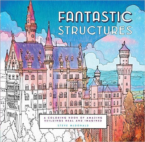 Fantastic Structures - Colouring Book