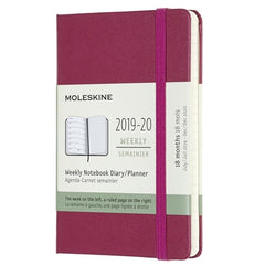 Moleskine 2019/20 Snappy Pink Academic Pocket Diary Hard Cover