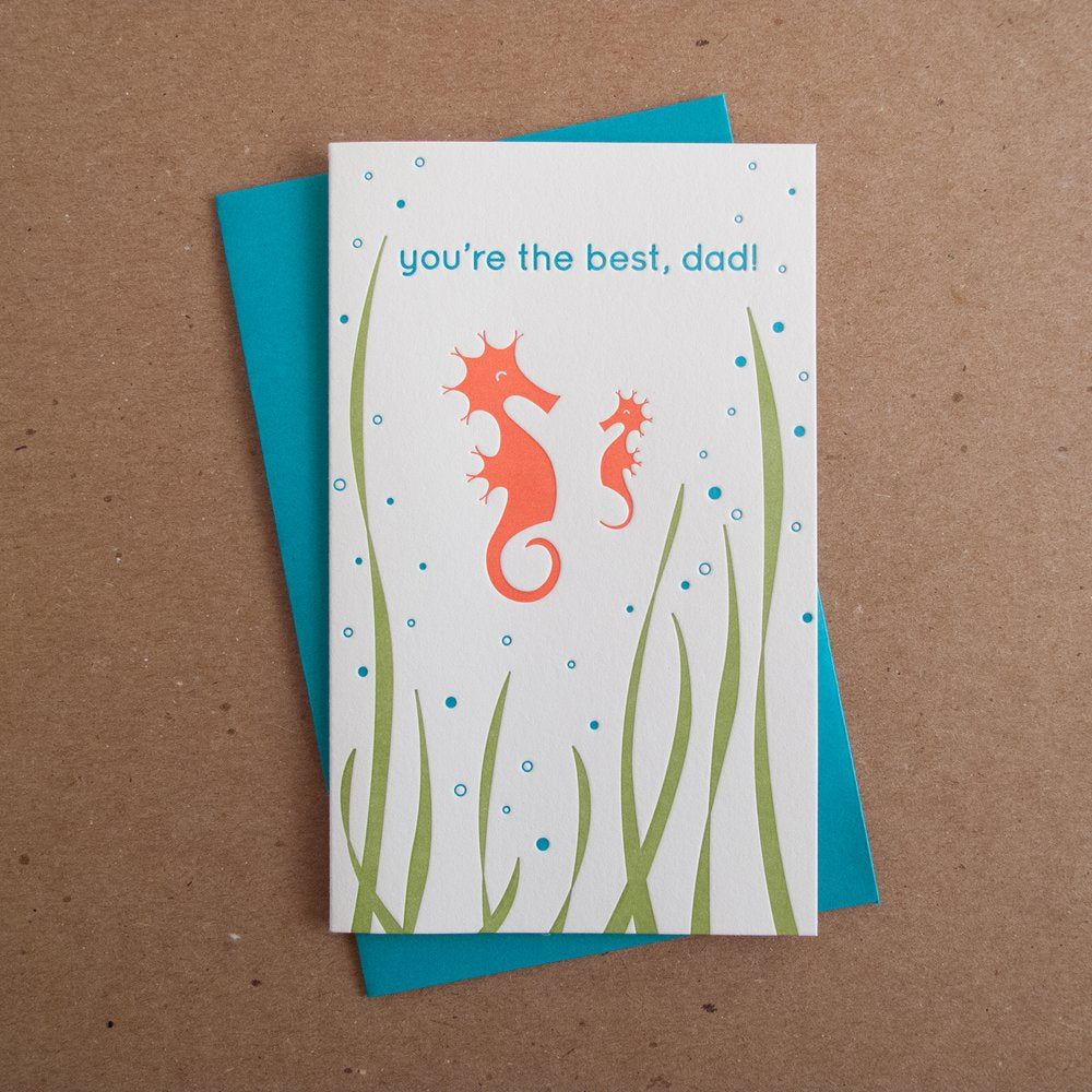 You're The Best Dad Seahorse Card