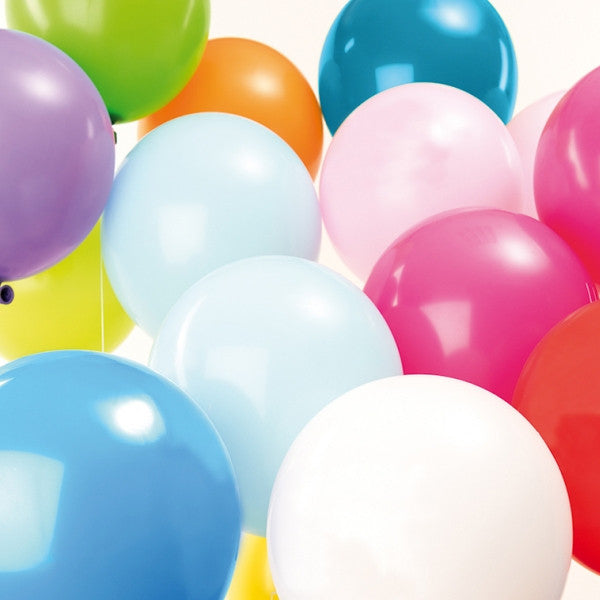 Multicoloured Mix Pack of 12 Balloons