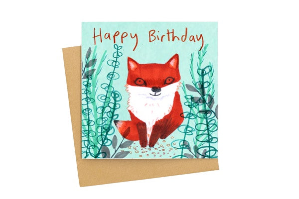 Happy Birthday Fox Card