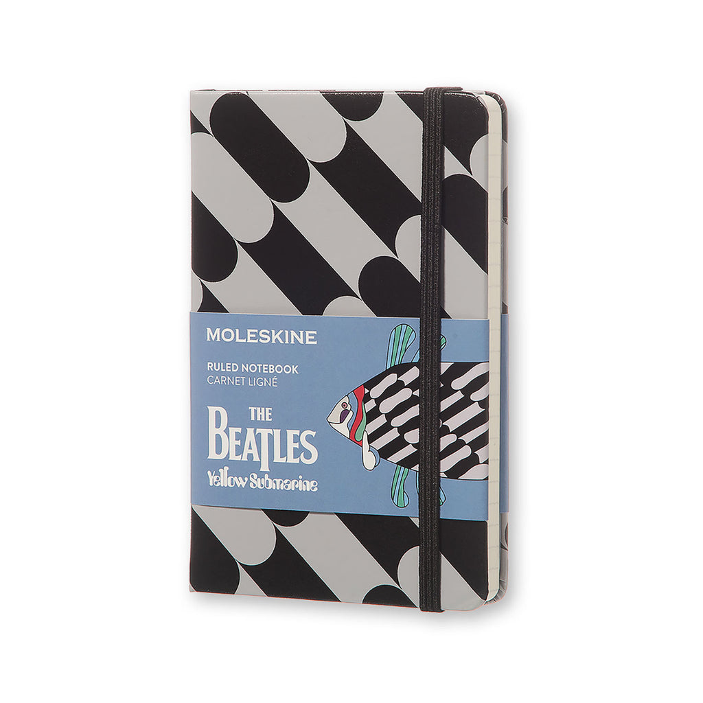 Moleskine The Beatles Ltd Pocket Ruled Notebook Black - Fish Hard Cover