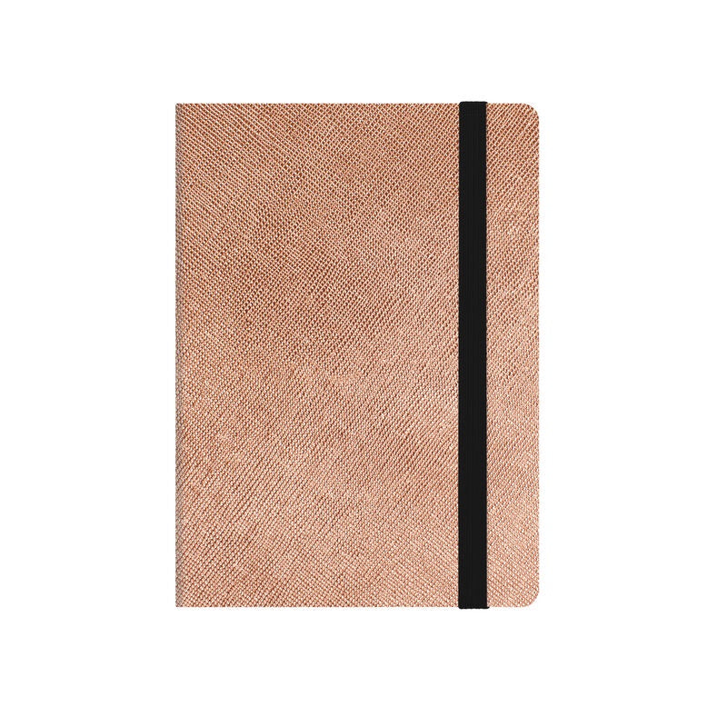 Small Weekly Diary 2020 - 2021 Metallic Rose Gold