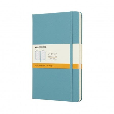 Moleskine Large Hardback Ruled Notebook Reef Blue