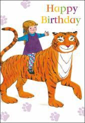 The Tiger Who Came To Tea Birthday Card