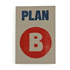 Plan B Letterpress Lined Notebook