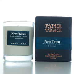 Paper Tiger New Town Peppermint, Lavender, and Rosemary Medium Candle