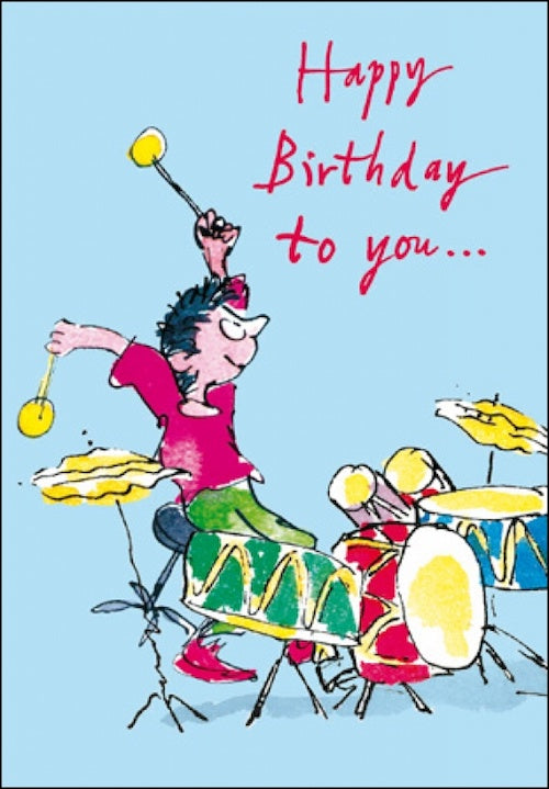 Drummer Boy Quentin Blake Birthday Card