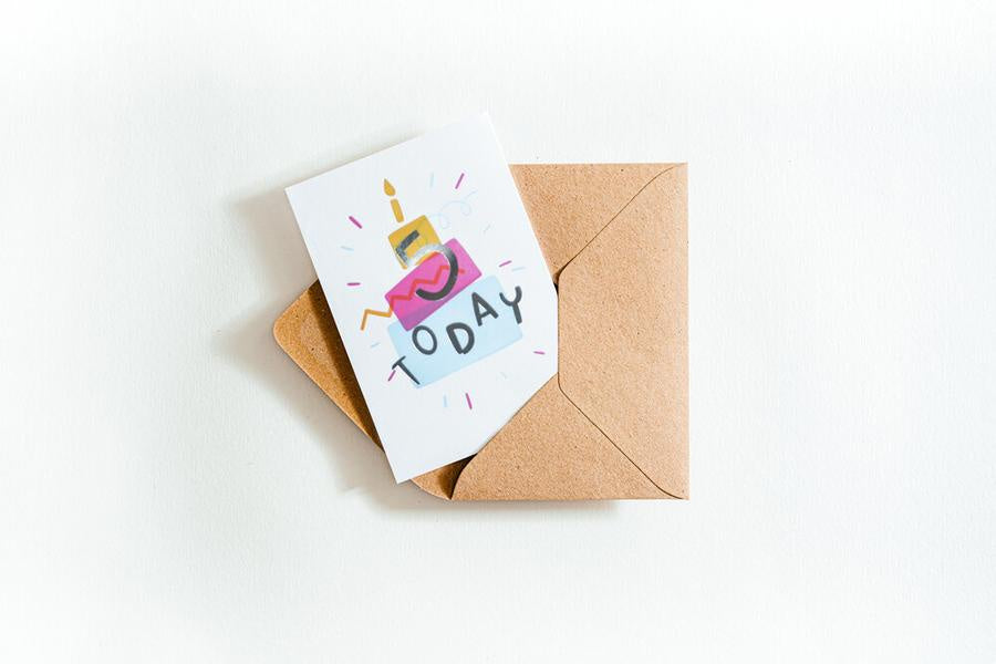 Five Today Letterpress Card