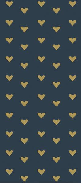 Navy Hearts Tissue Paper