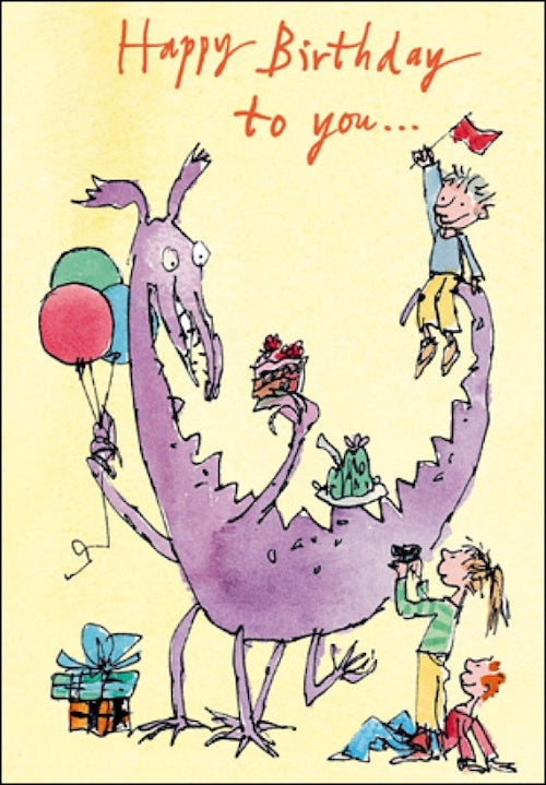 Dinosaur Play Quentin Blake Birthday Card