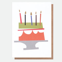 Birthday Cake Neon Card