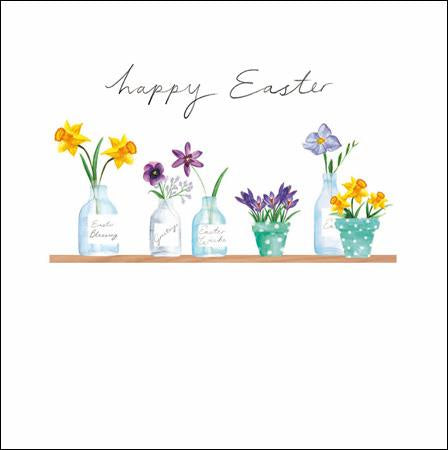 Pots of Spring Easter Card