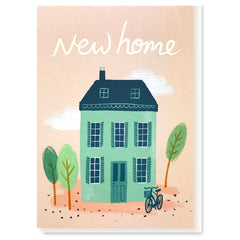 New Home House with Bicycle Card