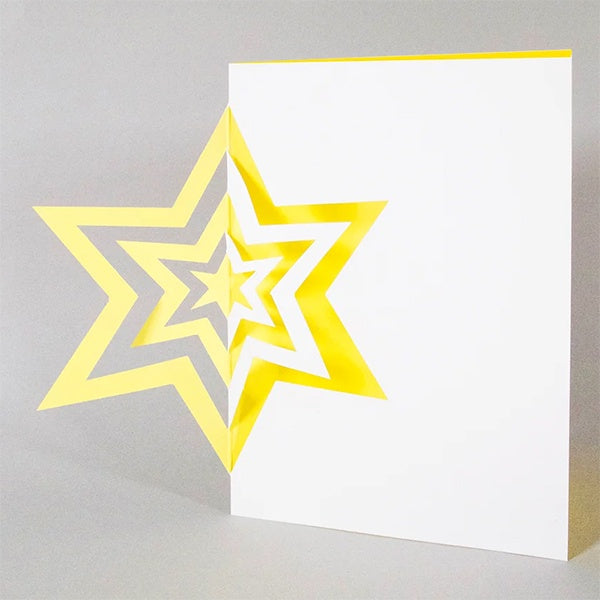 Yellow Cut Out Star Card