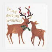 Darling Husband Deer Christmas Card