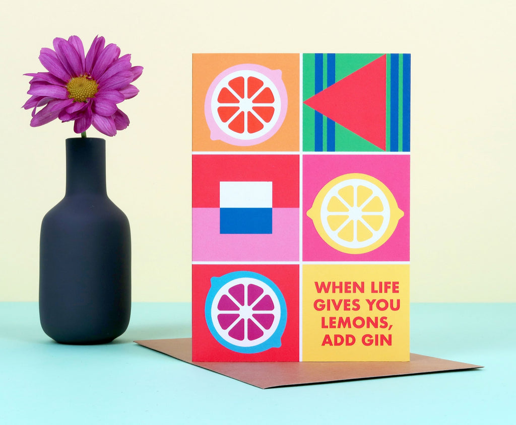 Add Gin Colour Block Card