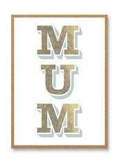 Mum Letterpress Card