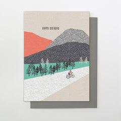 Mountain Biking Birthday Card