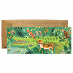 Alligator Jungle Birthday Card