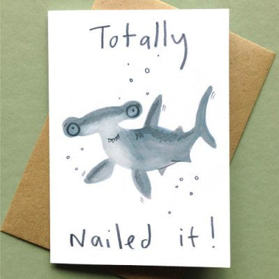 Nailed It Hammer Shark Card