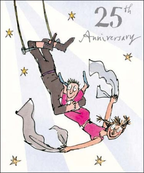 Swept Away Quentin Blake 25th Anniversary Card