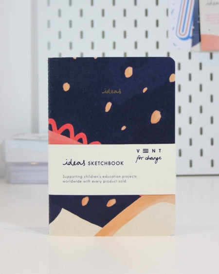 A5 Ideas Sketchbook Soft Cover Blue
