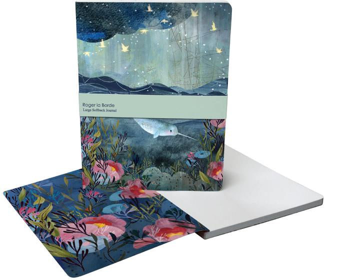 Dreamland Narwhal Large Notebook