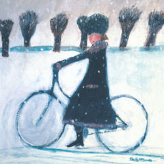 Snow Bike Pack of 5 Christmas Cards