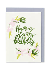 Have a Lovely Birthday Floral Card