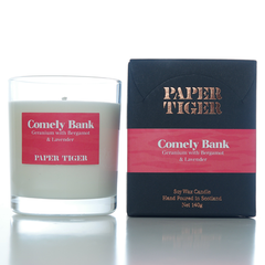 Paper Tiger Comely Bank Geranium Bergamot and Lavender Medium Candle