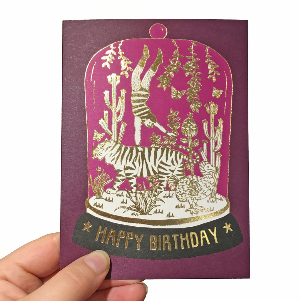 Tiger Purple Belljar Foiled Card
