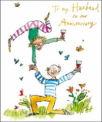 To My Husband Quentin Blake Anniversary Card