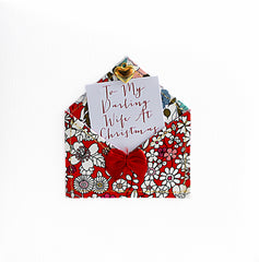Fabric Envelope To My Darling Wife Christmas Card