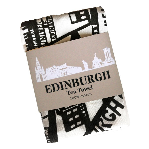 Edinburgh Old Town Tea Towel