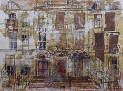 Three Doors, Heriot Row Edinburgh Card by Lucy Jones