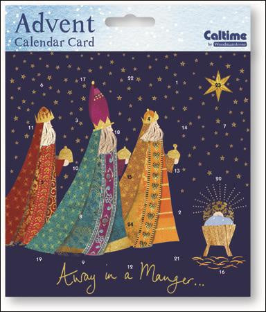 Away in a Manger Advent Card